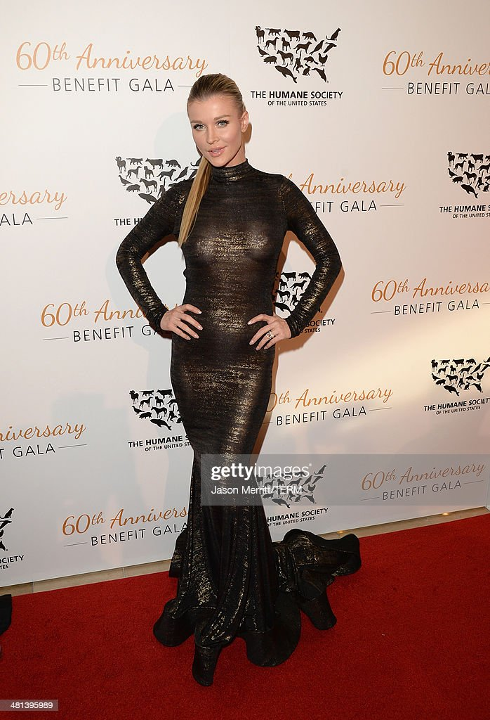 Model <a gi-track='captionPersonalityLinkClicked' href=/galleries/search?phrase=Joanna+Krupa&family=editorial&specificpeople=224038 ng-click='$event.stopPropagation()'>Joanna Krupa</a> attends the Humane Society of The United States 60th Anniversary Gala at The Beverly Hilton Hotel on March 29, 2014 in Beverly Hills, California.