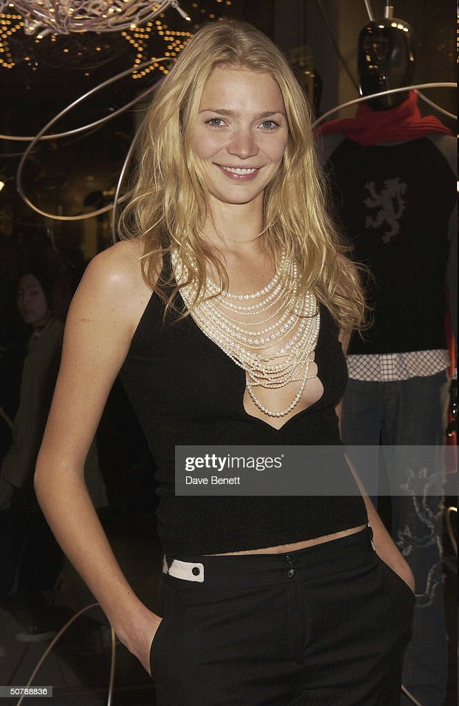 Model, Jodie Kidd at the Pringle flagship store opening on Bond Street held on 7th November 2002, in London.