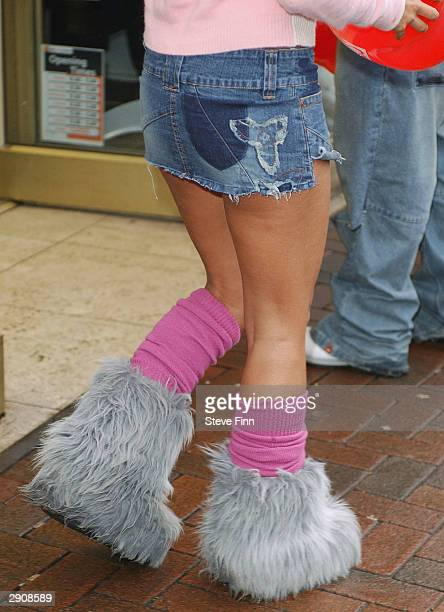 Model Jodie Marsh launches The British Heart Foundation's Real Valentine Campaign at the British Heart Foundation Shop on January 28 2004 in...