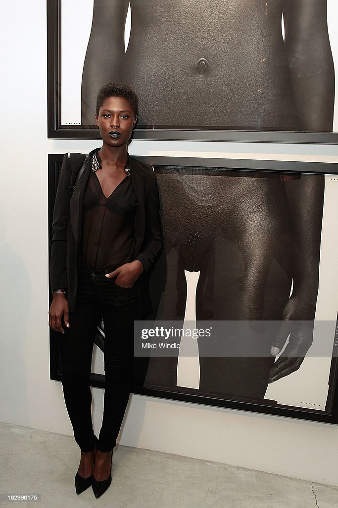 Model Jodie Smith attends the Samuel Bayer Ace Gallery Exhibit Opening, presented by Panavision at Ace Gallery on March 2, 2013 in Beverly Hills, California.