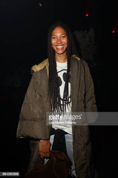 Model Johanna Diaz arrives ahead of the Romance Was Born show at MercedesBenz Fashion Week Resort 18 Collections at Carriageworks on May 18 2017 in...
