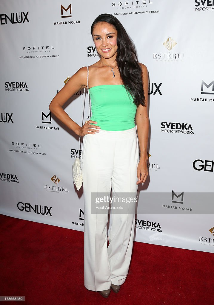 Model Johanna Soler attends the Genlux Magazine release party at Sofitel Hotel on August 29, 2013 in Los Angeles, California.