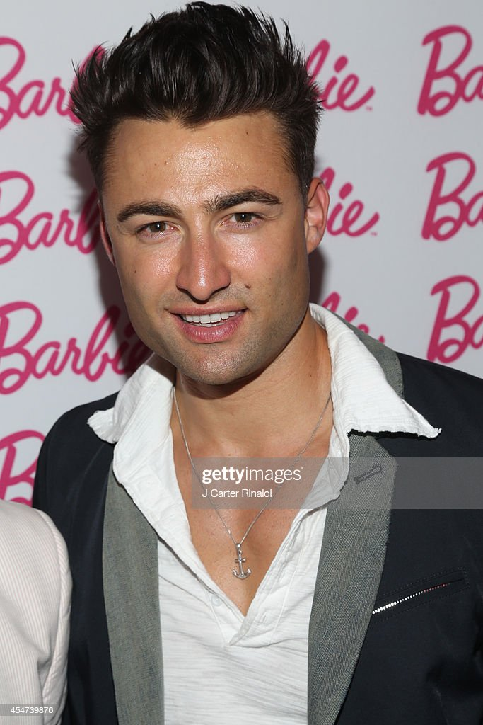 Model John Strand attends Barbie And CFDA Event on September 5, 2014 in New York City.