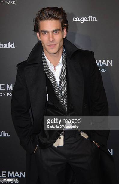 Model Jon Kortajarena attends 'A Single Man' premiere on January 11 2010 in Milan Italy