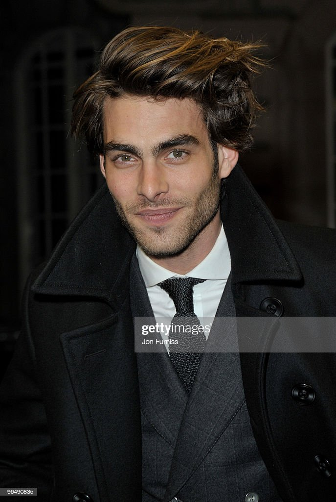 Model Jon Kortajarena attends the 'A Single Man' film premiere at the Curzon Mayfair on February 1 2010 in London England