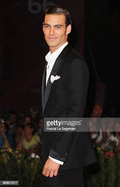 Model Jon Kortajarena attends the 'A Single Man' premiere at the Sala Grande during the 66th Venice Film Festival on September 11 2009 in Venice Italy