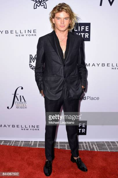 Model Jordan Barrett attends the Daily Front Row's Fashion Media Awards at Four Seasons Hotel New York Downtown on September 8 2017 in New York City