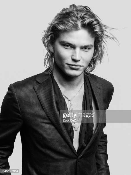 Model Jordan Barrett poses for a portrait during the Daily Front Row's Fashion Media Awards at Four Seasons Hotel New York Downtown on September 8...