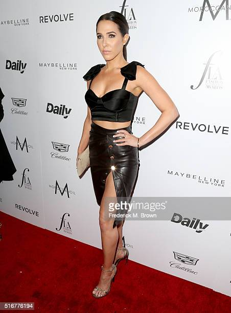Model Jordan Duffy attends the Daily Front Row 'Fashion Los Angeles Awards' at Sunset Tower Hotel on March 20 2016 in West Hollywood California