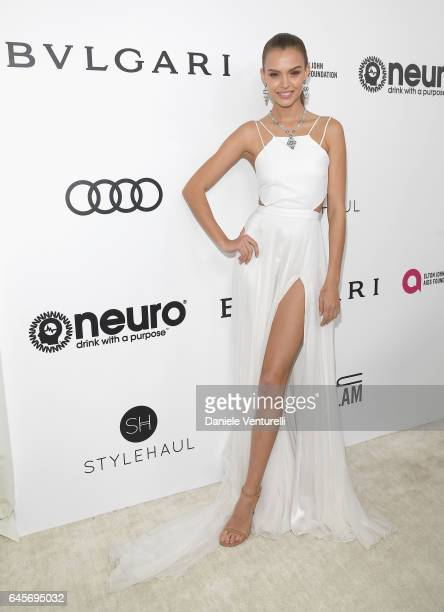 Model Josephine Skriver attends Bulgari at the 25th Annual Elton John AIDS Foundation's Academy Awards Viewing Party at on February 26 2017 in Los...