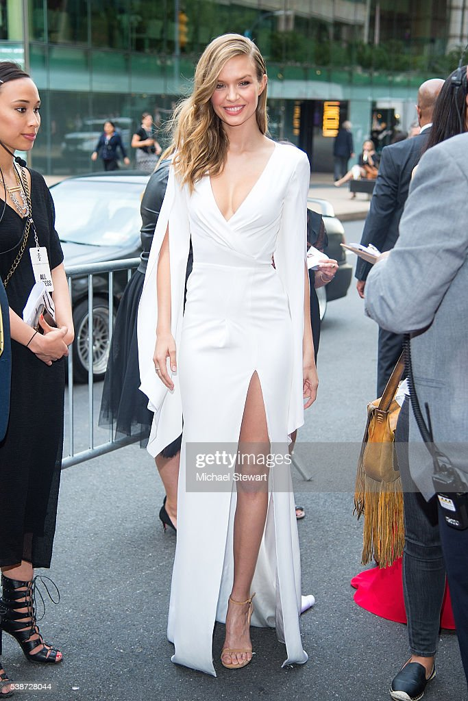 Model Josephine Skriver attends the 2016 Fragrance Foundation Awards at Alice Tully Hall at Lincoln Center on June 7 2016 in New York City