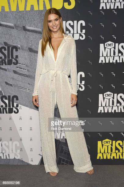 Model Josephine Skriver attends the 2017 CMT Music awards at the Music City Center on June 7 2017 in Nashville Tennessee