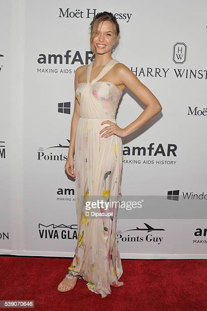 Model Josephine Skriver attends the 7th Annual amfAR Inspiration Gala at Skylight at Moynihan Station on June 9 2016 in New York City