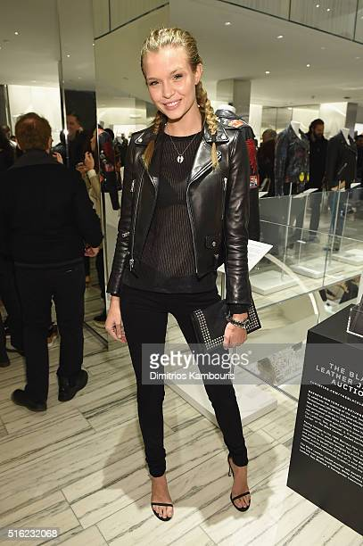 Model Josephine Skriver attends the Barneys New York celebration of its new downtown flagship in New York City on March 17 2016 in New York City