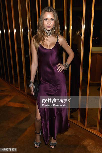 Model Josephine Skriver attends the official CFDA Fashion Awards after party coHosted by Refinery29 at The Top of The Standard on June 1 2015 in New...