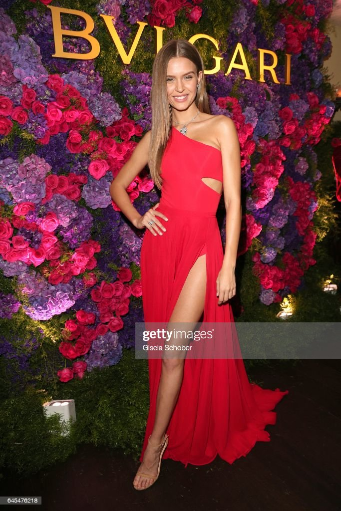 Model Josephine Skriver during the Bulgari Pre-Oscars party at hotel Chateau Marmont on February 25, 2017 in Los Angeles, California.