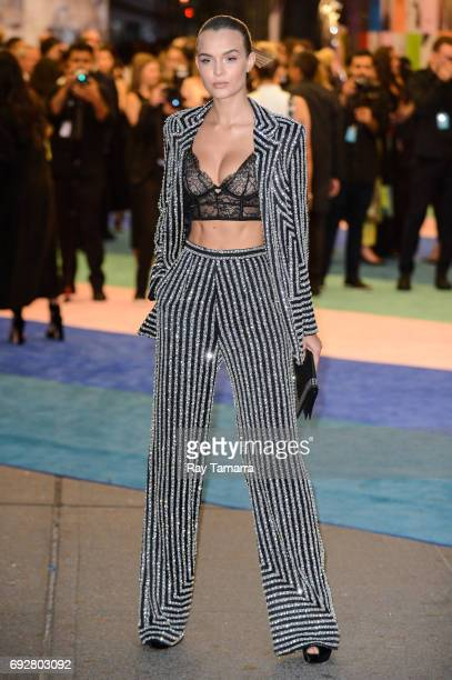 Model Josephine Skriver enters the CFDA Fashion Awards at Hammerstein Ballroom on June 5 2017 in New York City