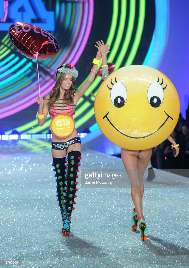 Model Josephine Skriver walks the runway at the 2013 Victoria's Secret Fashion Show at Lexington Avenue Armory on November 13, 2013 in New York City.