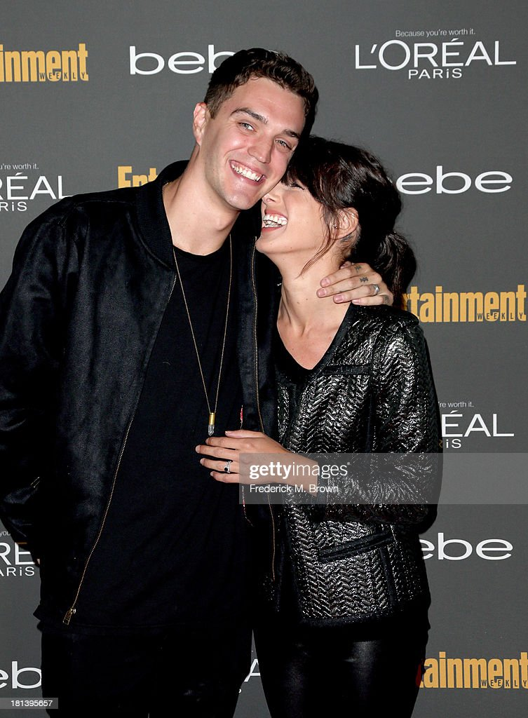 Model Josh Beech (L) and actress <a gi-track='captionPersonalityLinkClicked' href=/galleries/search?phrase=Shenae+Grimes&family=editorial&specificpeople=2153141 ng-click='$event.stopPropagation()'>Shenae Grimes</a> arrive at Entertainment Weekly's Pre-Emmy Party at Fig & Olive Melrose Place on September 20, 2013 in West Hollywood, California.