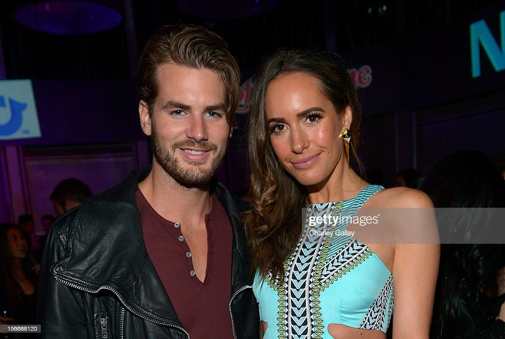 Model Josh Slack (L) and actress Louise Roe attend the Rolling Stone Magazine Official 2012 American Music Awards VIP after party presented by Nokia and Rdio at Rolling Stone Restaurant And Lounge on November 18, 2012 in Los Angeles, California.