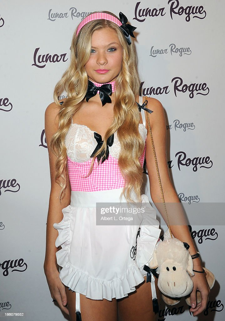 Model Josie Conseco arrives for the CD Release And Halloween Costume Party For Lunar Rogue on October 26, 2013 in Beverly Hills, California.