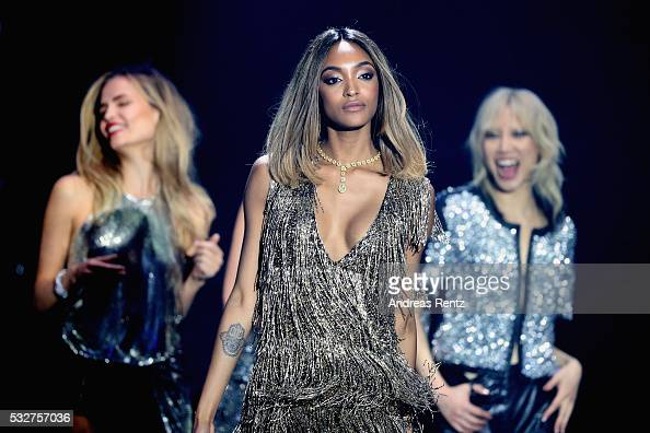Model Jourdan Dunn appears on stage at the amfAR's 23rd Cinema Against AIDS Gala at Hotel du CapEdenRoc on May 19 2016 in Cap d'Antibes France