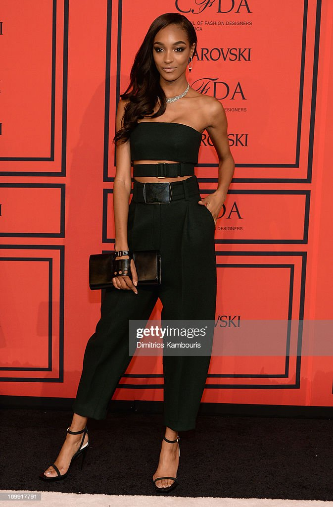 Model <a gi-track='captionPersonalityLinkClicked' href=/galleries/search?phrase=Jourdan+Dunn&family=editorial&specificpeople=4347612 ng-click='$event.stopPropagation()'>Jourdan Dunn</a> attends 2013 CFDA Fashion Awards at Alice Tully Hall on June 3, 2013 in New York City.
