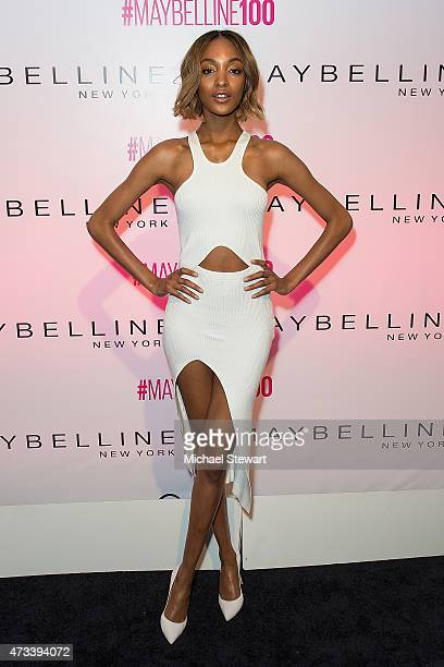 Model Jourdan Dunn attends Maybelline New York's 100 Year Anniversary at IAC Building on May 14 2015 in New York City