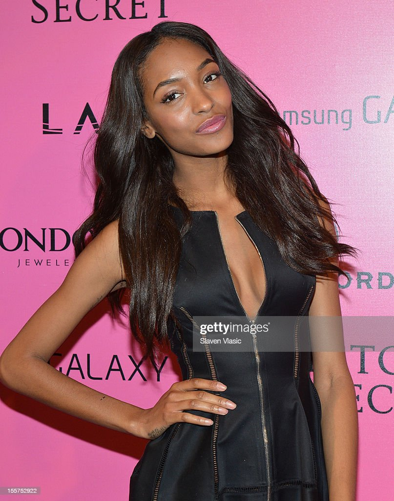 Model Jourdan Dunn attends Samsung Galaxy features arrivals at the official Victoria's Secret fashion show after party on November 7, 2012 in New York City.