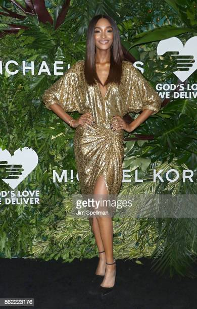 Model Jourdan Dunn attends the 11th Annual God's Love We Deliver Golden Heart Awards at Spring Studios on October 16 2017 in New York City
