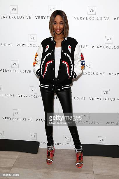 Model Jourdan Dunn attends the Very Exclusive launch party on the first night of London Fashion Week at Watches of Switzerland on February 20 2015 in...