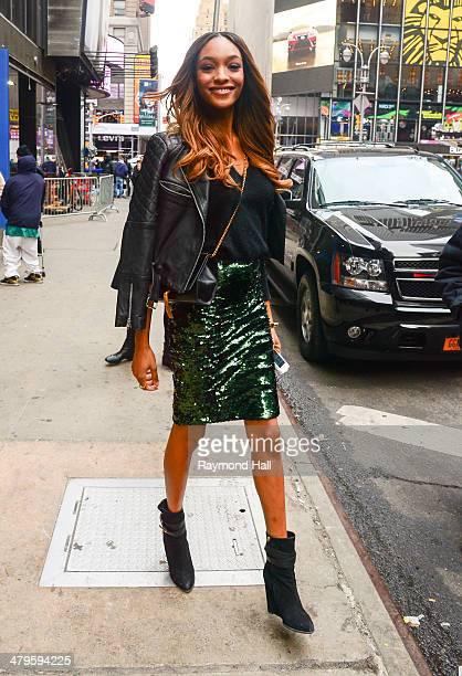 Model Jourdan Dunn is seen outside 'Good Morning America' on March 19 2014 in New York City