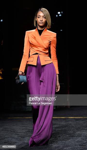 Model Jourdan Dunn walks the runway during the Balmain show as part of the Paris Fashion Week Womenswear Fall/Winter 2015/2016 on March 5 2015 in...