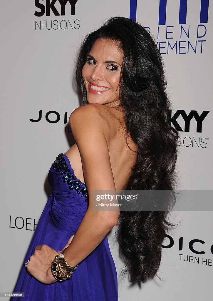 Model Joyce Giraud attends the Friend Movement Anti-Bullying Benefit Concert at the El Rey Theatre on July 1, 2013 in Los Angeles, California.