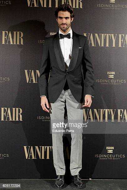 Model Juan Betancourt attends the 'Vanity Fair number 100 party' photocall at Real Academia de Bellas Artes de San Fernando on November 22 2016 in...