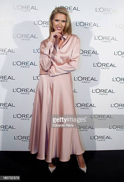 Model Judit Masco attends the L'Oreal Awards photocall during the Mercedes Benz Fashion Week Madrid Spring/Summer 2014 on September 16 2013 in Madrid...