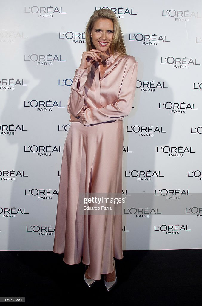 Model <a gi-track='captionPersonalityLinkClicked' href=/galleries/search?phrase=Judit+Masco&family=editorial&specificpeople=2304064 ng-click='$event.stopPropagation()'>Judit Masco</a> attends the L'Oreal Awards photocall during the Mercedes Benz Fashion Week Madrid Spring/Summer 2014 on September 16, 2013 in Madrid, Spain.