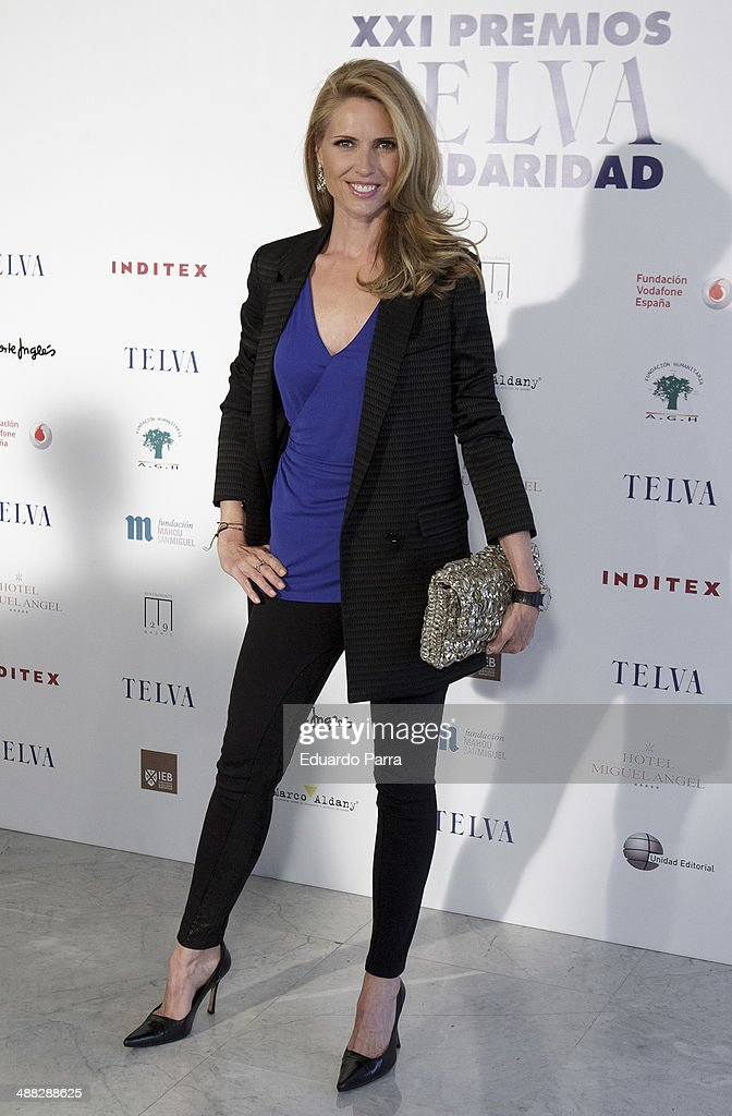Model Judith Masco attends the 'Telva solidarity awards' photocall at Miguel Angel hotel on May 5, 2014 in Madrid, Spain.