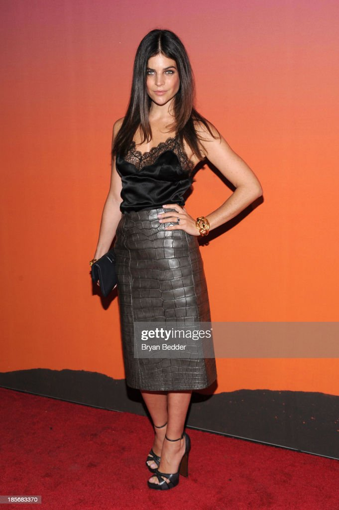 Model Julia Restoin Roitfeld arrives for the Whitney Museum of American Art Gala & Studio Party 2013 Supported By Louis Vuitton at Skylight at Moynihan Station on October 23, 2013 in New York City.