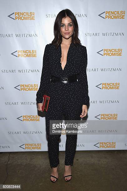 Model Julia Restoin Roitfeld attends as Stuart Weitzman launches its partnership with Pencils Of Promise at Sadelle's on April 11 2016 in New York...