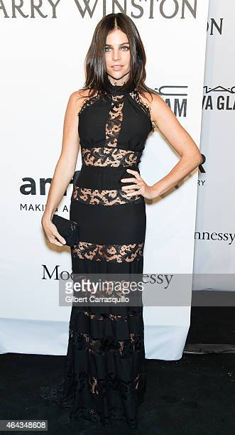Model Julia Restoin Roitfeld attends the 2015 amfAR New York Gala at Cipriani Wall Street on February 11 2015 in New York City