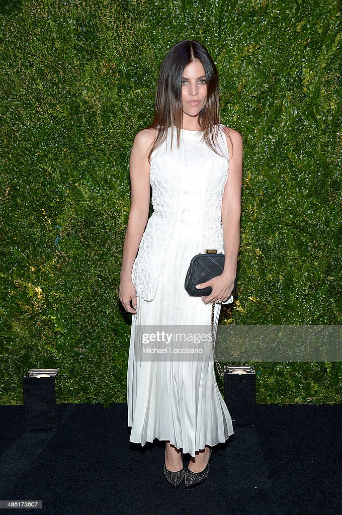Model Julia Restoin Roitfeld attends the CHANEL Tribeca Film Festival Artists Dinner at Balthazar on April 22, 2014 in New York City.