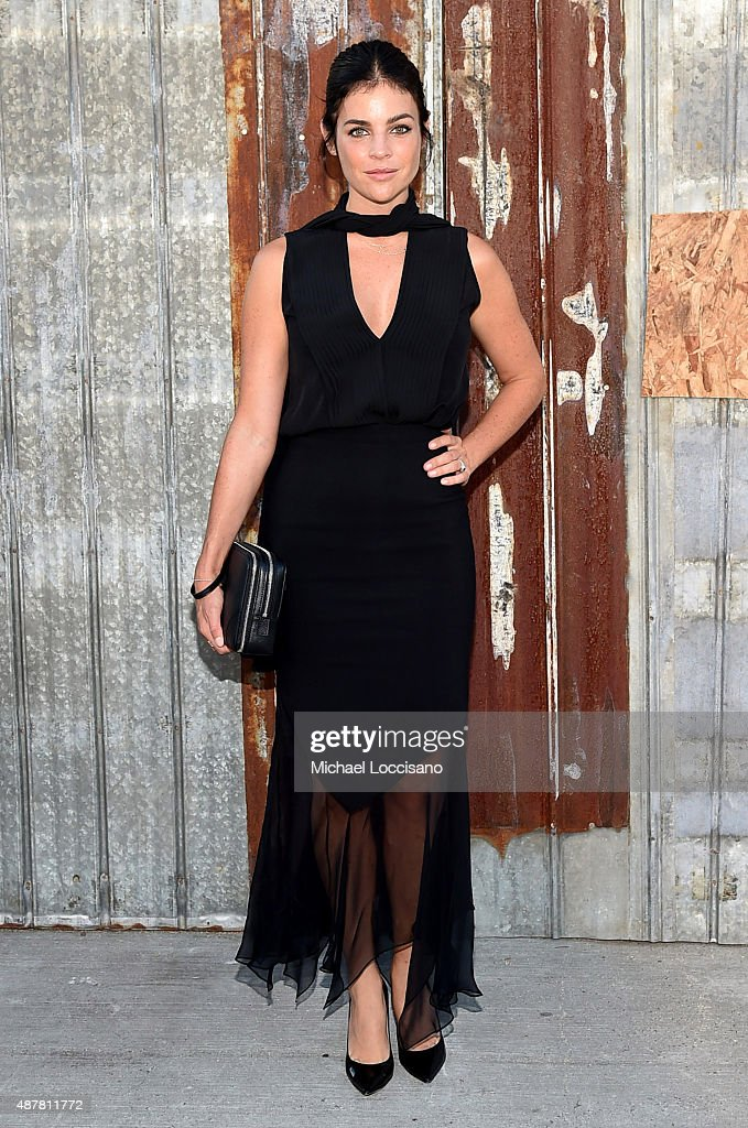 Model Julia Restoin Roitfeld attends the Givenchy fashion show during Spring 2016 New York Fashion Week at Pier 26 at Hudson River Park on September 11, 2015 in New York City.