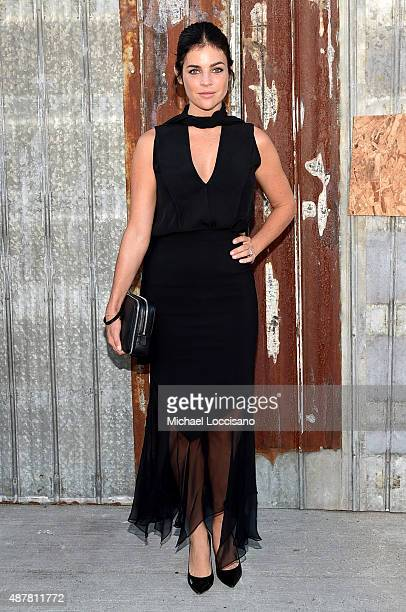 Model Julia Restoin Roitfeld attends the Givenchy fashion show during Spring 2016 New York Fashion Week at Pier 26 at Hudson River Park on September...