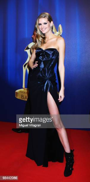 Model Julia Stegner arrives to the Bambi Awards 2009 at the Metropolis Hall at the Filmpark Babelsberg on November 26 2009 in Potsdam Germany