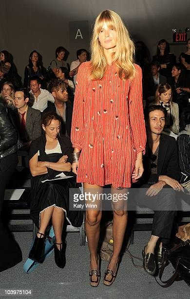 Model Julia Stegner is seen around Lincoln Center during MercedesBenz Fashion Week on September 10 2010 in New York City