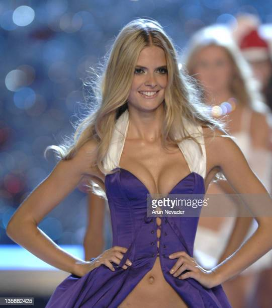 Model Julia Stegner wearing Victoria's Secret at the 12th Victoria's Secret Fashion show at the Kodak Theater on November 15 2007 in Hollywood...