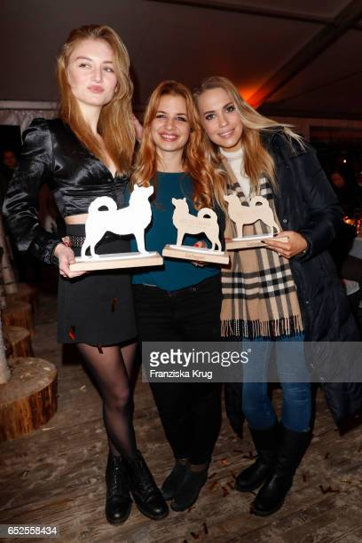 Model Julia Wulf german actress Susan Sideropoulos and german actress LaraIsabelle Rentinck attend the 'Baltic Lights' charity event on March 11 2017...