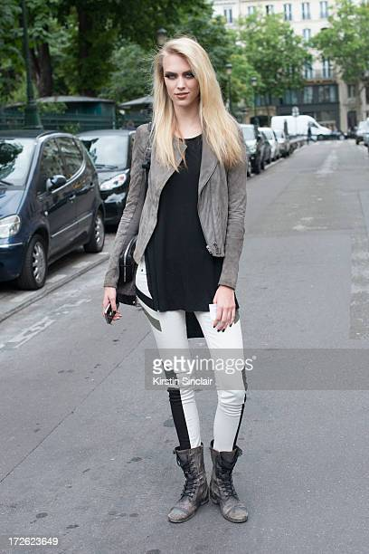 Model Julianna Schurig on day 3 of Paris Collections Womens Haute Couture on July 03 2013 in Paris France