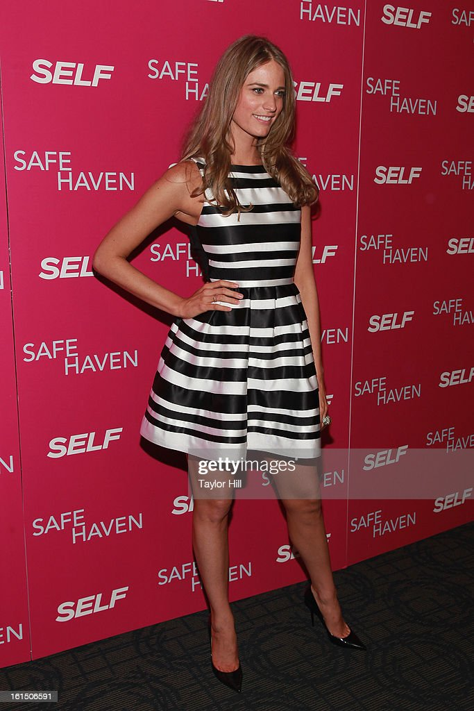 Model Julie Henderson attends a New York screening of 'Safe Haven' at Landmark Sunshine Cinema on February 11, 2013 in New York City.